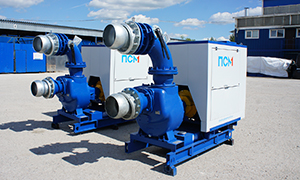2 diesel pumpsets «Strong» series for gravel mining company in Kaliningrad