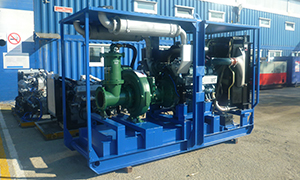 2 diesel pumpsets for Oleniy Ruchey mine