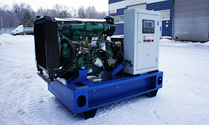 Diesel genset ADF-16 for construction base in Nyagan