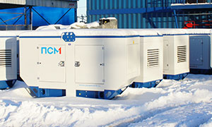4 diesel gensets for commercial and engineering company from Samara
