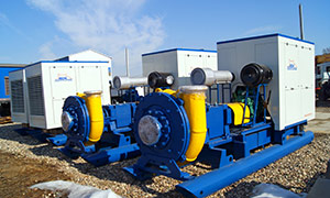 6 diesel pumpsets for gold mining company