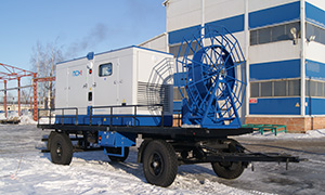 Mobile diesel genset for Novocheboksarsk utilities company