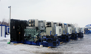 6 diesel gensets with total power 5 MW for Tymlatsky Fish Factory
