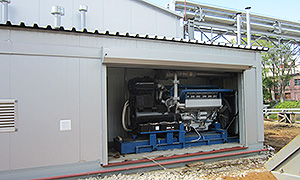 Diesel genset as part of the boiler plant