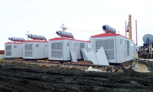 6 diesel gensets and 10 diesel drives for the oilfield Payakhskoye