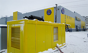 25 diesel gensets for network of hypermarkets «Lenta»