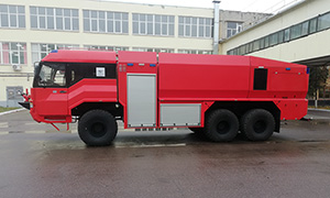 Complete set of airfield fire and rescue vehicle