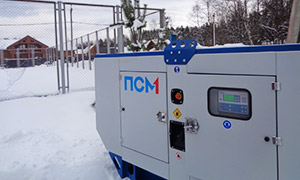 Diesel genset for garden community in Leningrad region