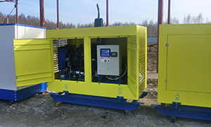 21 gensets with a remote monitoring system