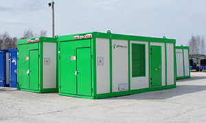 6 diesel gensets in containers for AGROECO
